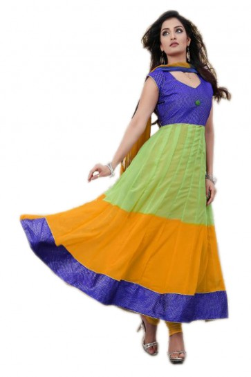 Kaia Printed Anarkali Suit