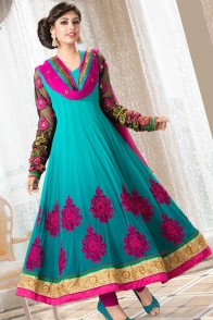 Fasense Solid, Printed, Self Design Anarkali Suit