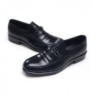 Zapatoz Black Formal Slip On