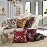 Dekor World Floral, Striped Cushions Cover