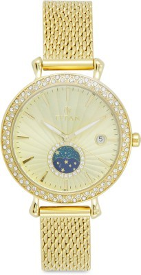 Titan 95015YM01 Analog Watch - For Women