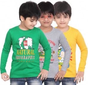 Dongli Printed Boy's Round Neck T-Shirt